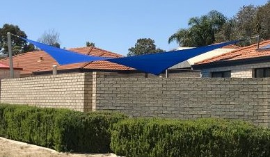 Pool Shade Sail - Royal Blue colour