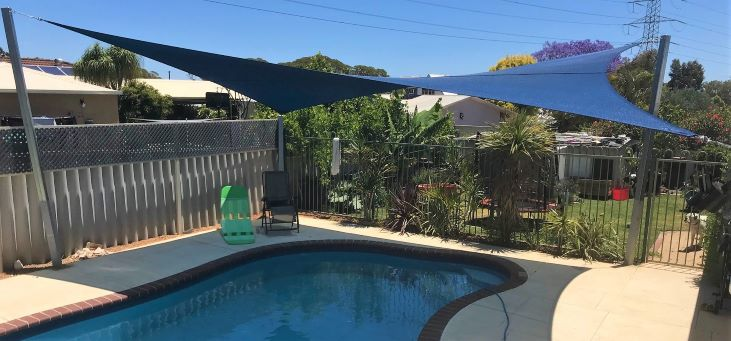 Swan View Pool Shade Sail