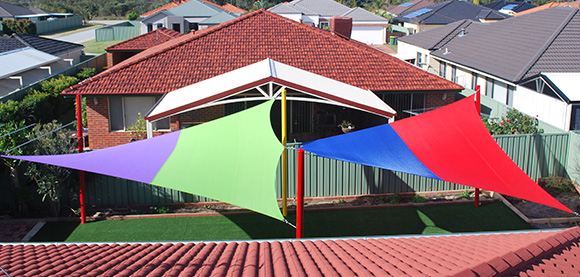 Rainbow shade sail fabric