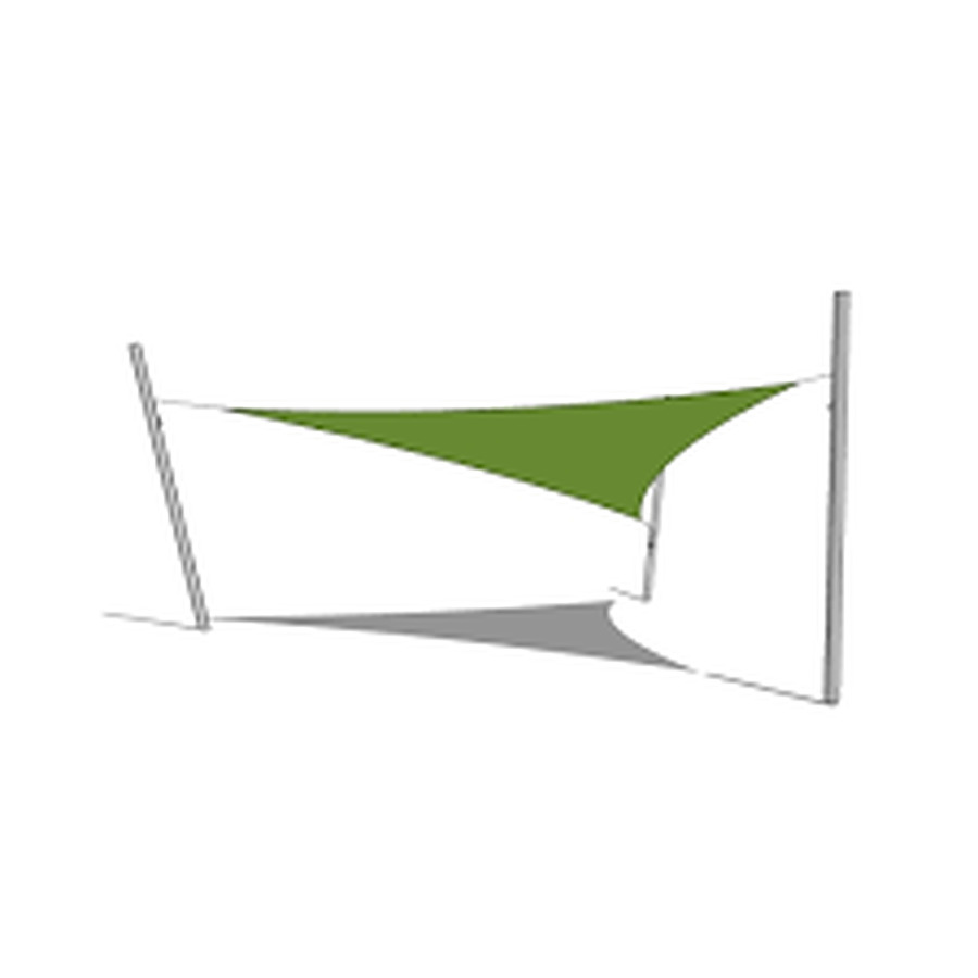 4 x 4 x 5 Triangular Shade Sail Delivered Australia Wide - Image 1