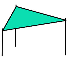 more on 3 x 3 x 4 Triangular Shade Sail Delivered Australia Wide
