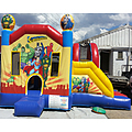 Superheroes Side Slide Bouncy Castle