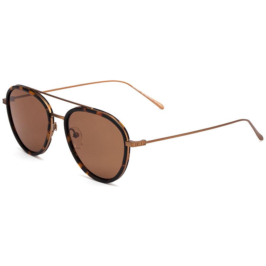 Otis Templin Matte Havana Tort Brushed Bronze Sunglasses