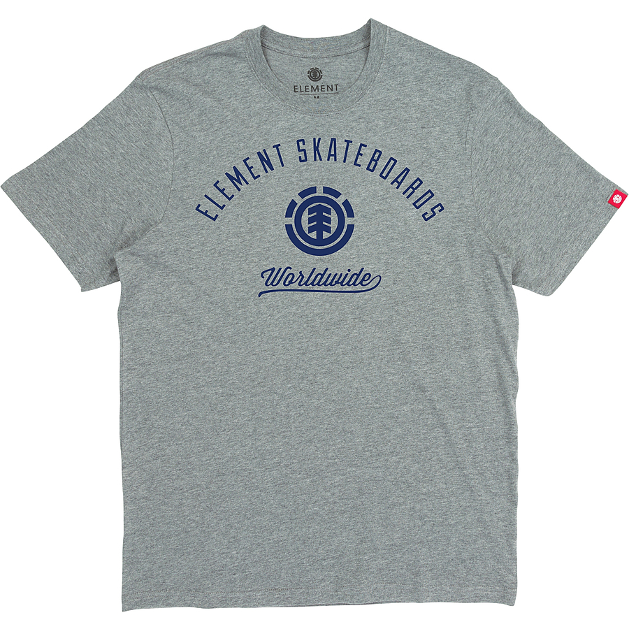 Element Worldwide SS Mens Tee Grey Heather