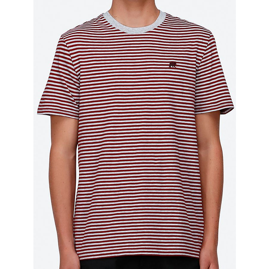 Element Malcolm SS Mens Tee Burgundy