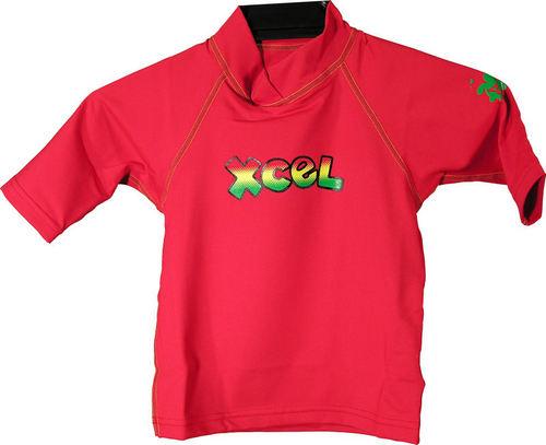Xcel 8oz Wetshirt S/S Kids Red