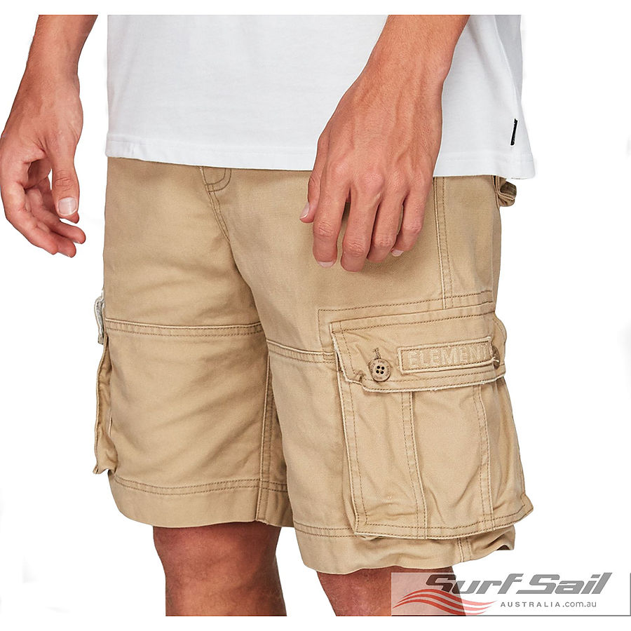 Element Source Mens Cargo Shorts Khaki