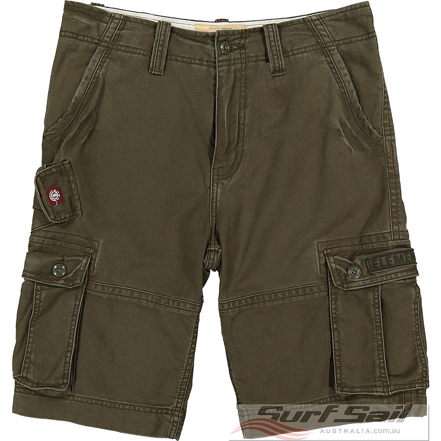 Element Source Mens Cargo Shorts Olive