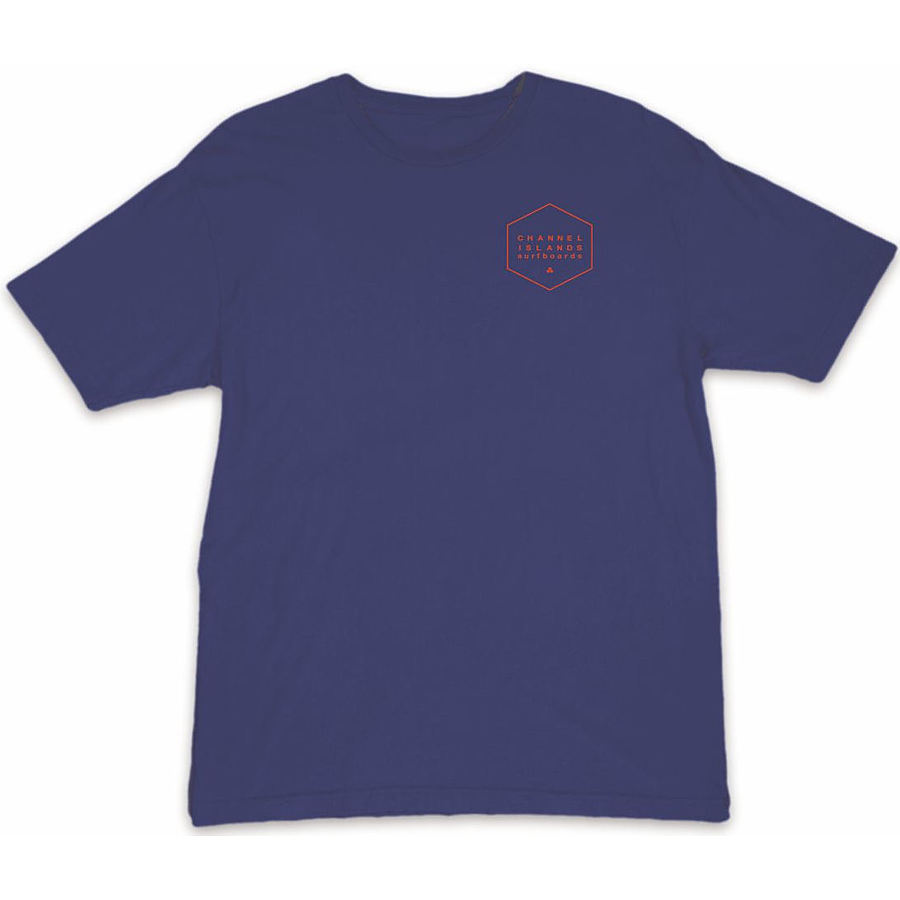 Channel Islands Mens The Hex SS Tee Navy