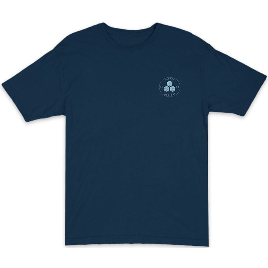 Channel Islands Mens Circle Hex Navy SS Tee