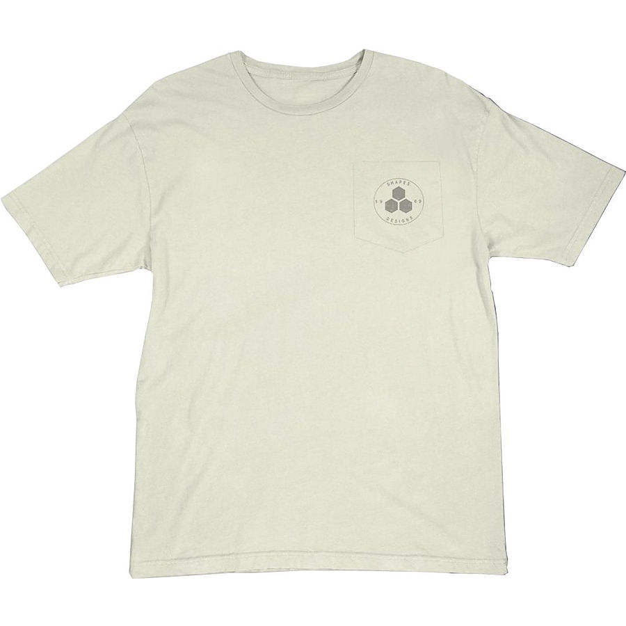Channel Islands Mens Circle Hex Natural SS Tee