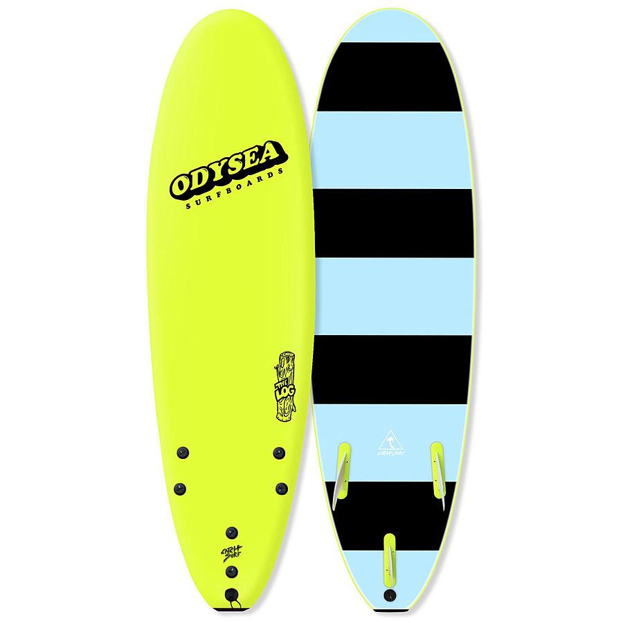 Catch Surf Odysea Log 2020 Tri Fin Softboard Lemon