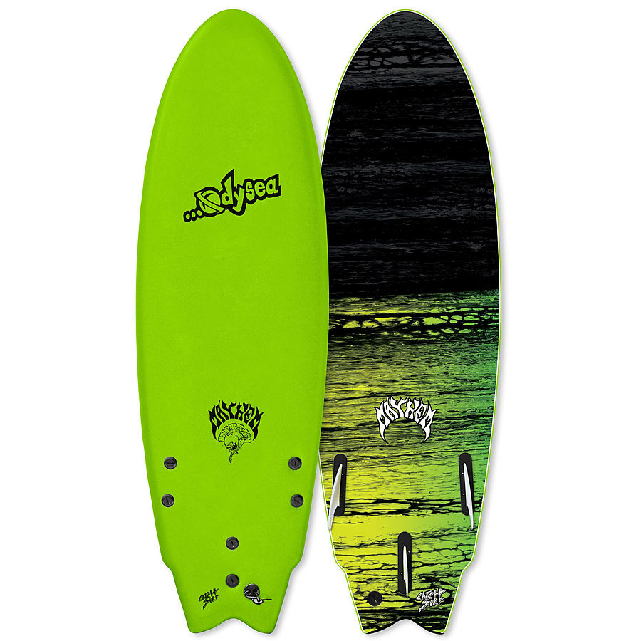 Catch Surf Odysea Lost Round Nose Fish 2020 Tri Fin Softboard Green
