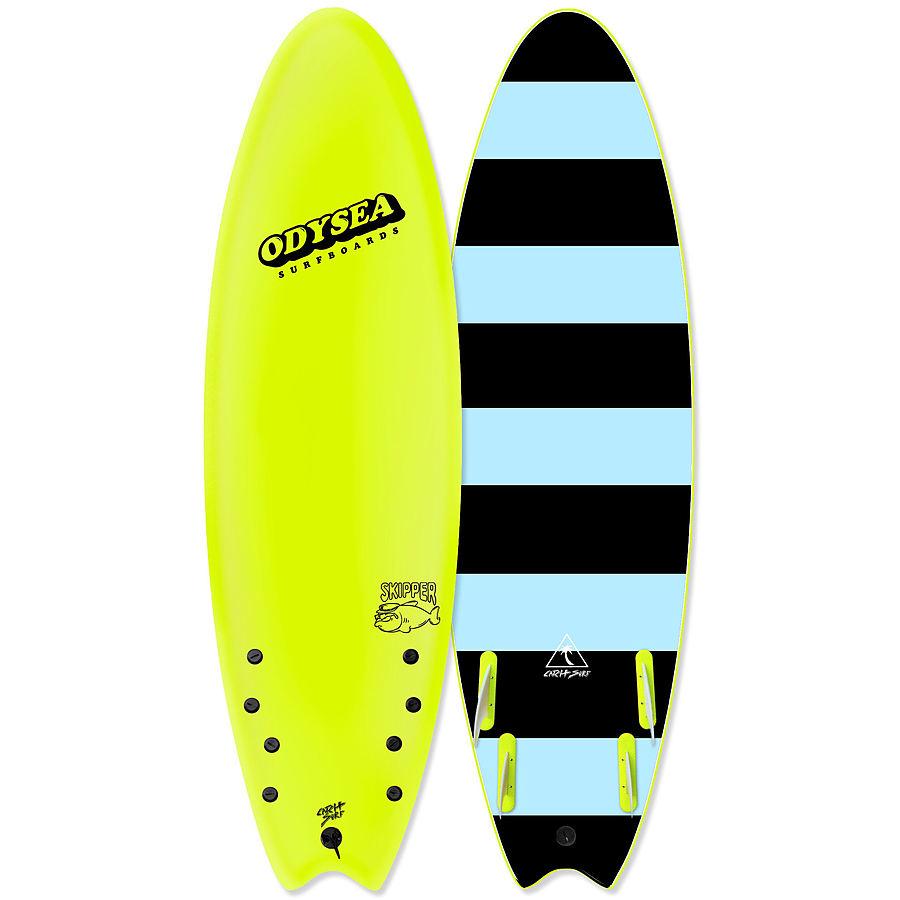 Catch Surf Odysea Skipper 2020 Quad Fin Softboard Lemon