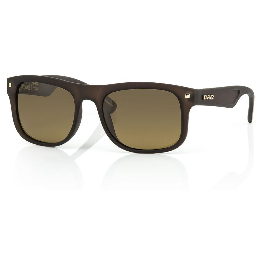 Carve Eyewear Swing City Matte Brown Black Polarized Sunglasses