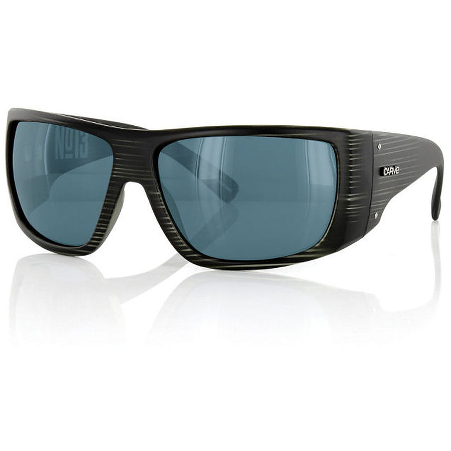 Carve Eyewear No 13 Matte Black Streak Polarized Sunglasses