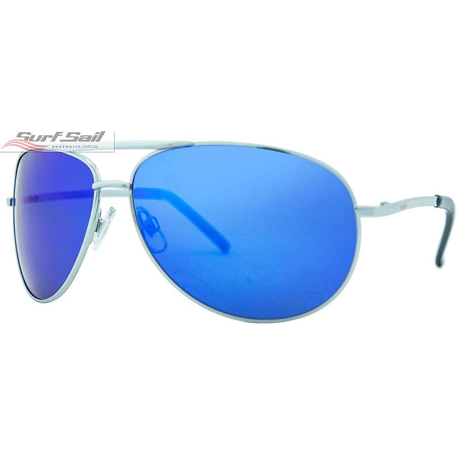 Venture Eyewear Viper Silver Blue Revo Polarised Sunglasses