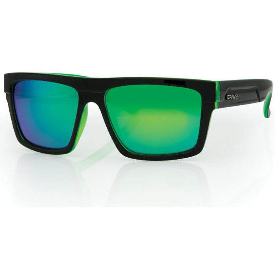 Carve Eyewear Volley Black And Clear Blue Revo Polarised Sunglasses