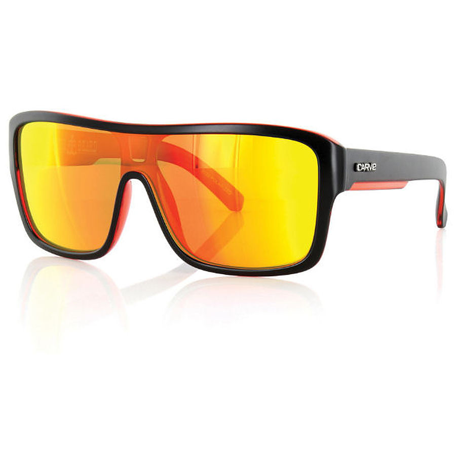 Carve Eyewear Anchor Beard Matt Black Red Revo Polarised Sunglasses