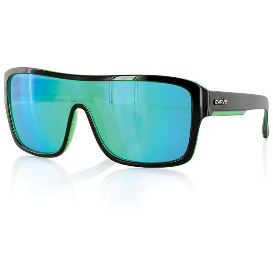 Carve Eyewear Anchor Beard Black Green Revo Sunglasses