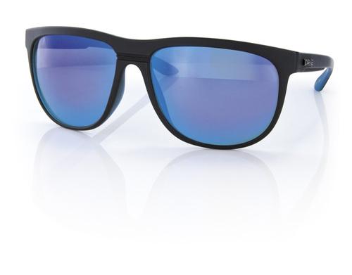 Carve Eyewear Matrix Matte Black Blue Revo Sunglasses