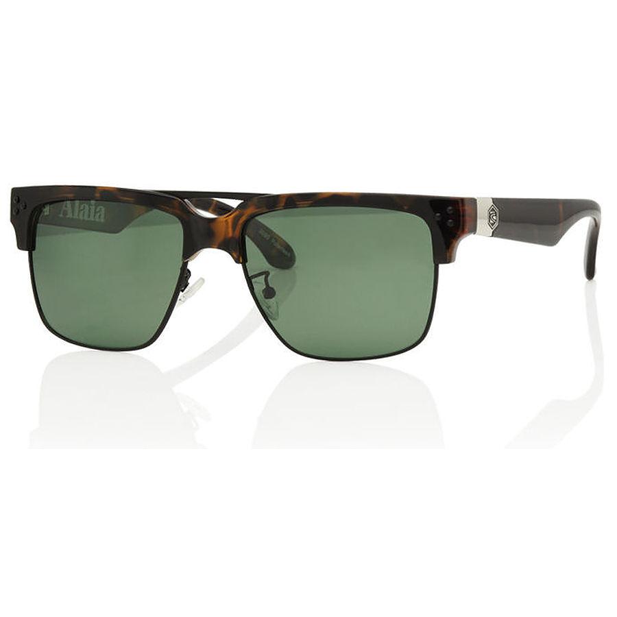 Carve Eyewear Alaia Matte Tort Green Lens Polarised Sunglasses
