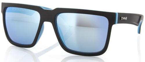 Carve Eyewear Phenomenon Black With Blue Revo Sunglasses