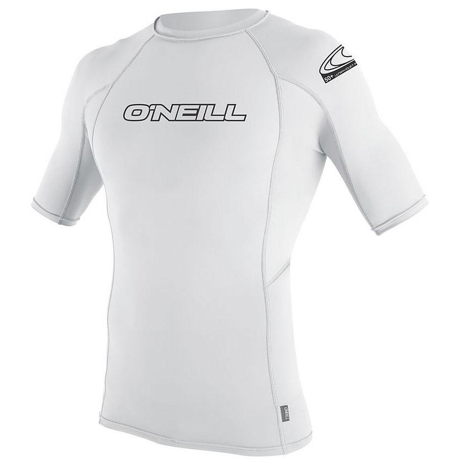 Oneill Mens 6Oz Basic Skins SS Crew Rash Vest White