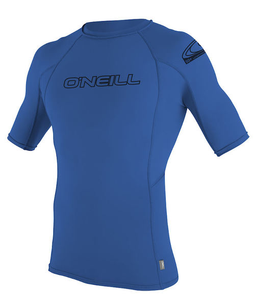 Oneill Kids Basic Skins S/S Crew Blue