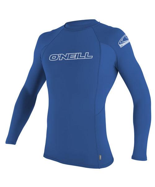 Oneill Youth Basic Skins LS Crew Rash Vest Blue