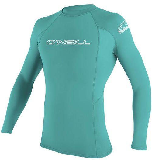 Oneill Youth Basic Skins LS Rash Vest Crew Spyglass Green