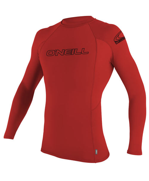 Oneill Kids Basic Skins LS Crew Red