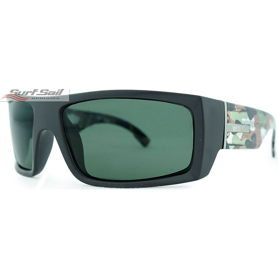 Venture Eyewear Twenty 4 Seven Matte Black Camo Polarised Sunglasses - Image 1