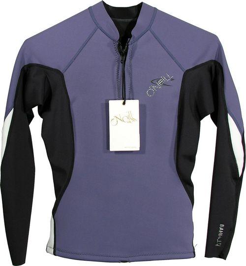 Oneill Womens Bahia LS Front Zip 1.0 mm Jacket Purple Black White