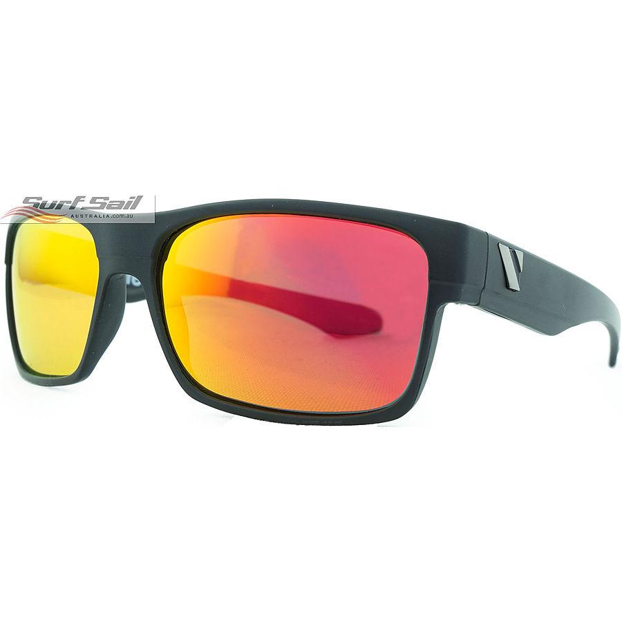 Venture Eyewear Trail Matte Black Red Revo Polarised Sunglasses - Image 1