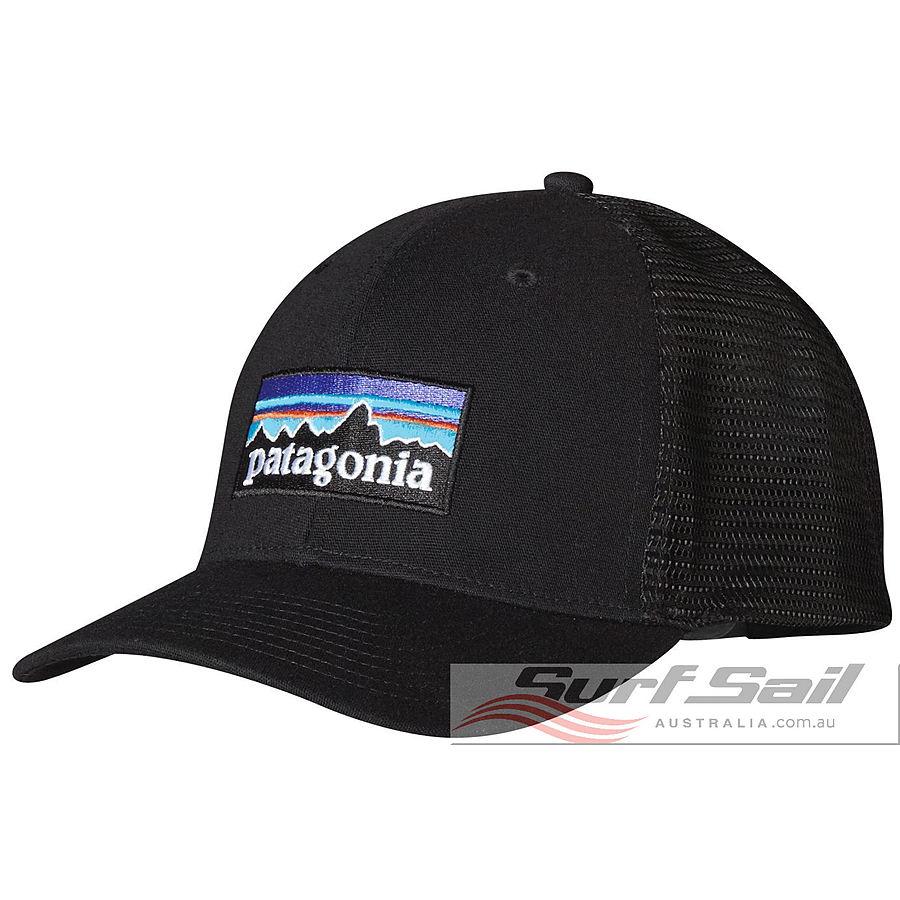 Patagonia P-6 Logo Mid Crown Men's Trucker Cap Black
