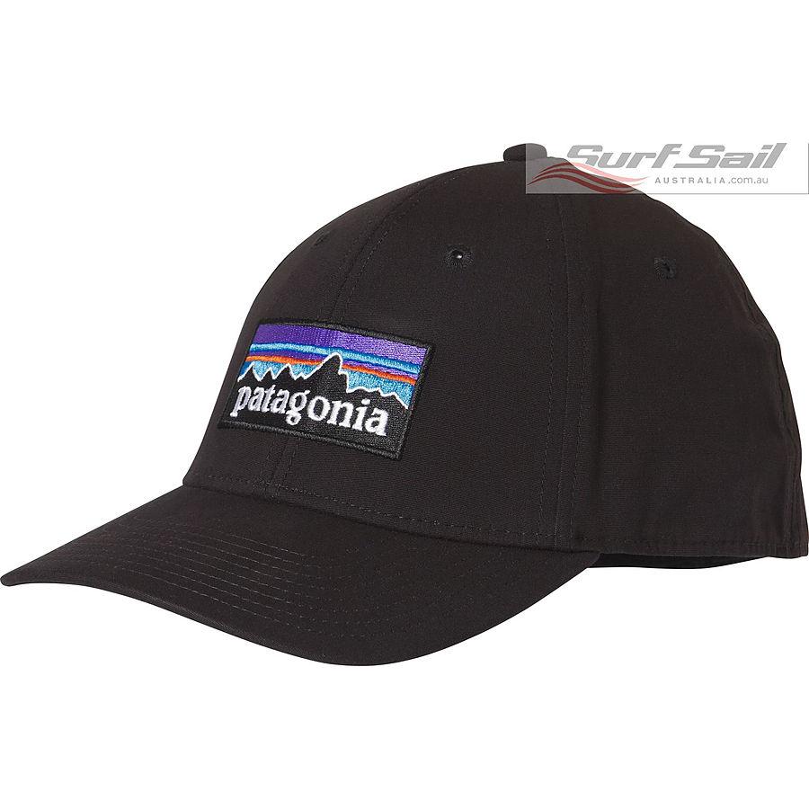 Patagonia P6 Stretch Fit Mens Cap Black