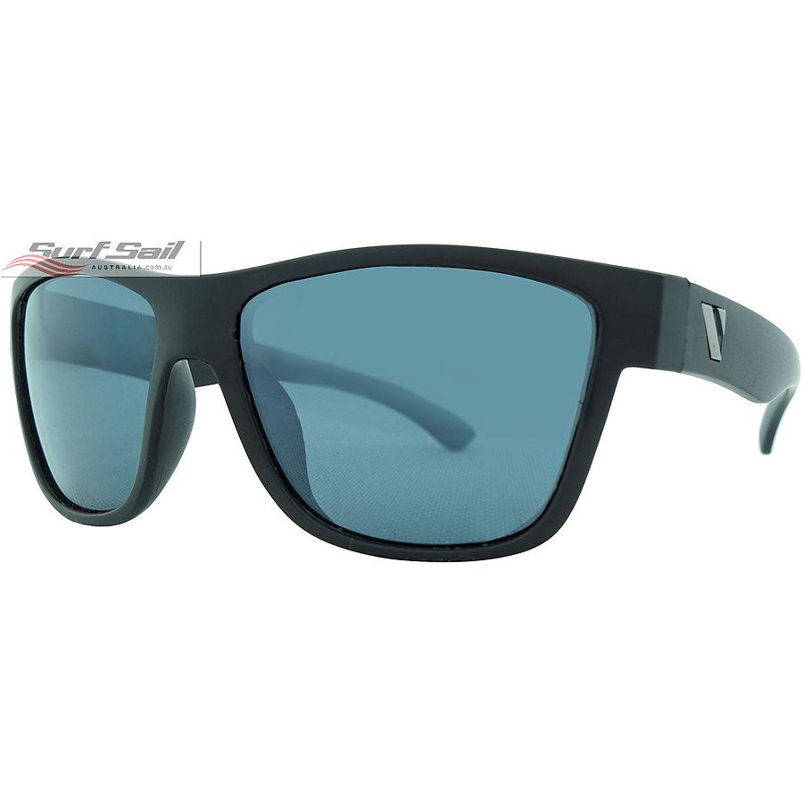 Venture Eyewear Escape Matte Black Smoke Flash Mirror Polarised Floating Sunglasses