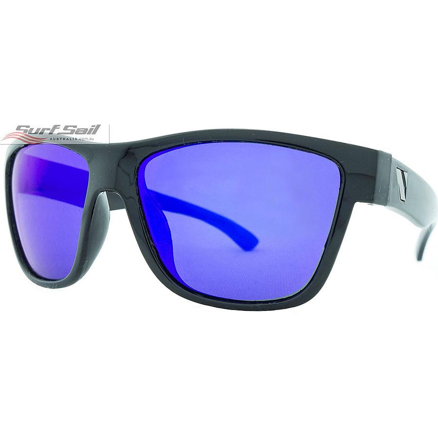 Venture Eyewear Escape Gloss Black Blue Revo Polarised Floating Sunglasses