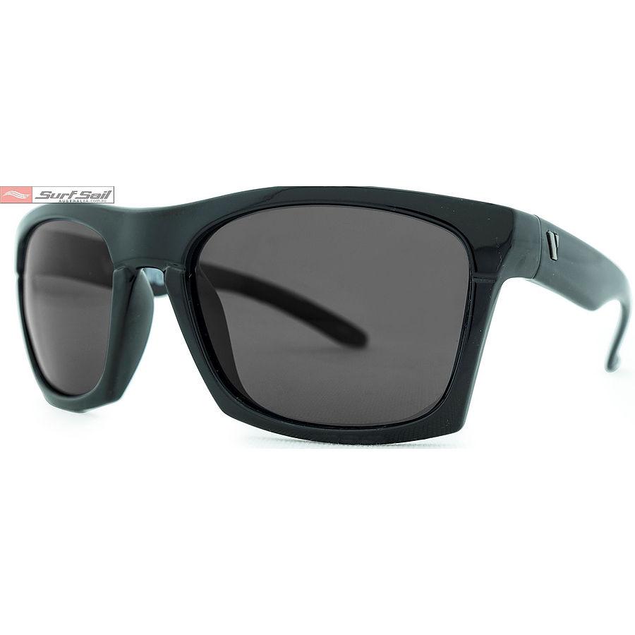 Venture Eyewear Base Camp Gloss Black Smoke Polarised Sunglasses - Image 1