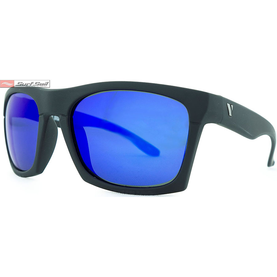 Venture Eyewear Base Camp Matt Black Blue Revo Polarised Sunglasses - Image 1
