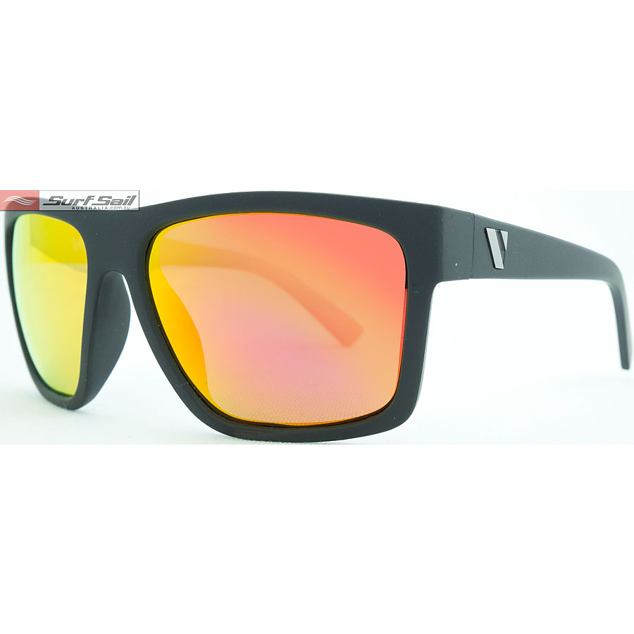 Venture Eyewear The Edge Matt Black Red Revo Polarised Sunglasses