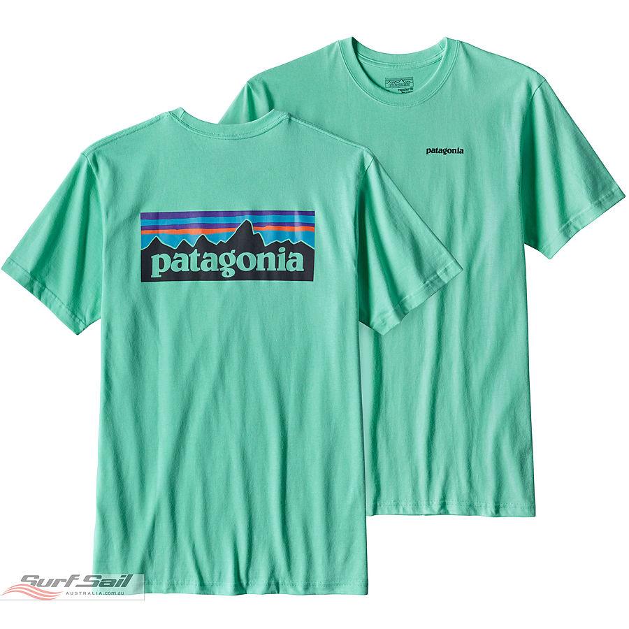 Patagonia Men's P-6 Logo Cotton T-Shirt Galah Green