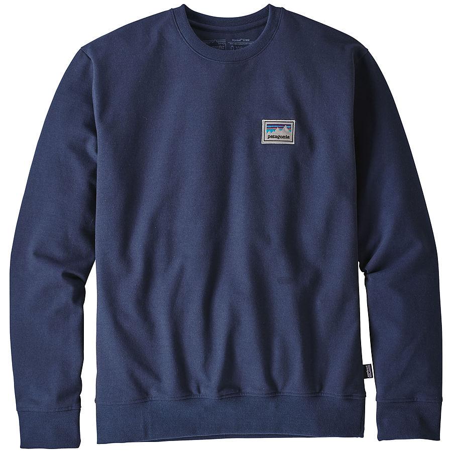 Patagonia Mens Shop Sticker Patch Uprisal Crew Sweatshirt Classic Navy
