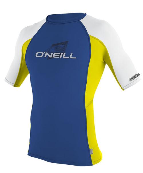 Oneill Kids Skins S/S Crew Rash Vest Fathom Yellow