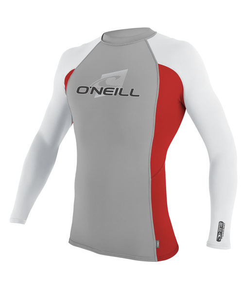 Oneill Youth Skins L S Crew Rash Vest Flint Red White