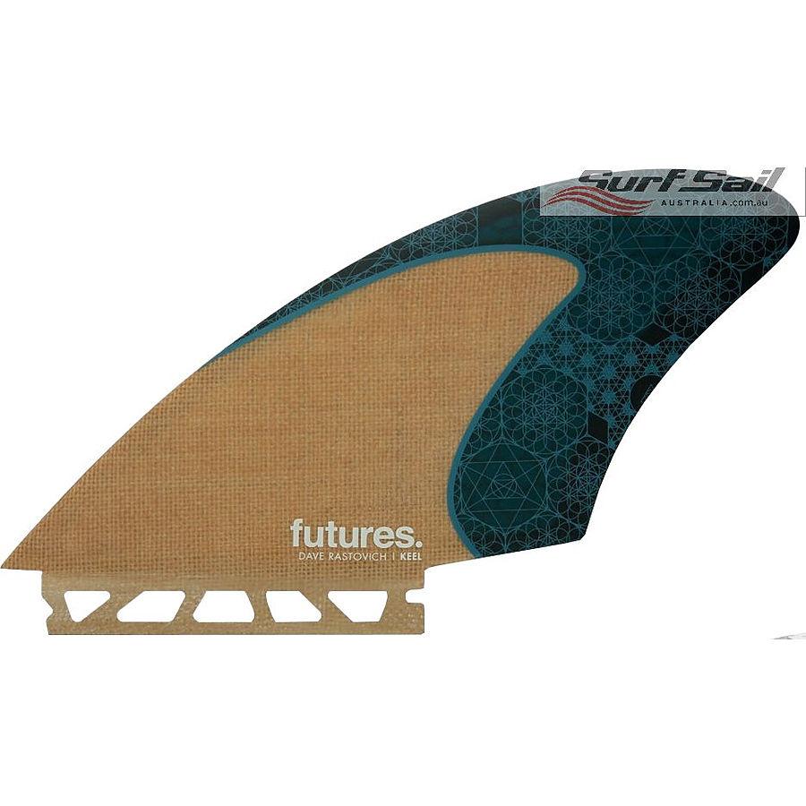 Futures Rasta HC Jute Teal Keel Fin Set