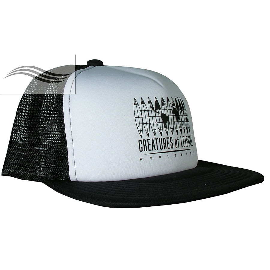 Creatures of Leisure Global Flat Trucker Black White