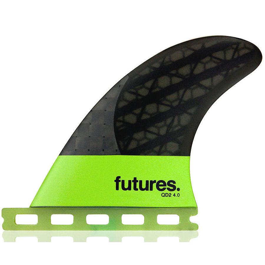 Futures QD2 Blackstix Green Quad Rear Fin Set (4.0 inch)
