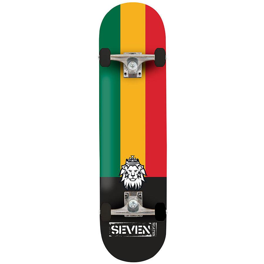 Seven Skates Complete Rasta Lion Skateboard